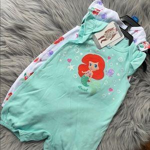 Disney Baby Ariel One Piece (2 Included) 12M